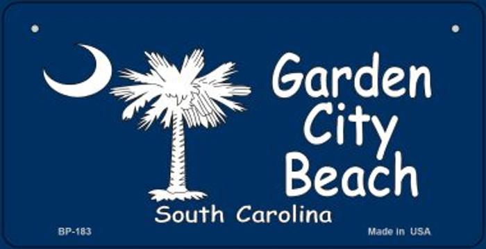 Garden City Beach Flag Novelty Metal Bicycle Plate BP-183