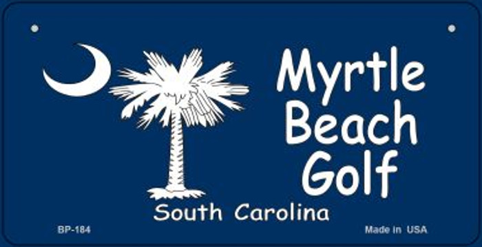 Myrtle Beach Golf Flag Novelty Metal Bicycle Plate BP-184