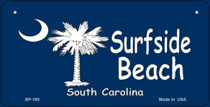 Surfside Beach Flag Novelty Metal Bicycle Plate BP-185