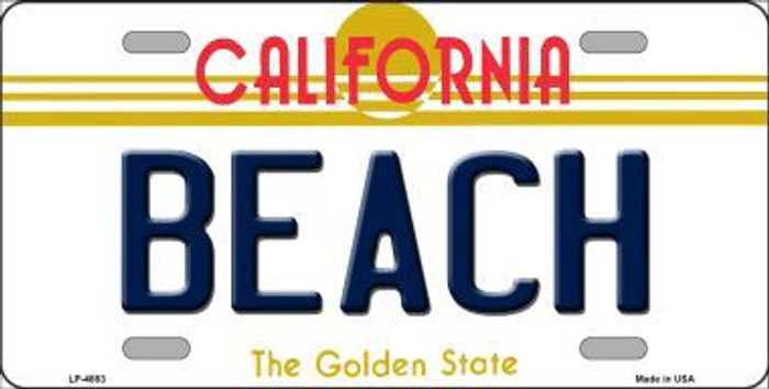 Beach California Novelty Metal License Plate LP-4883
