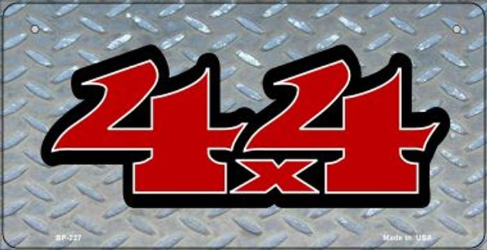 4x4 Diamond Novelty Metal Bicycle Plate BP-227