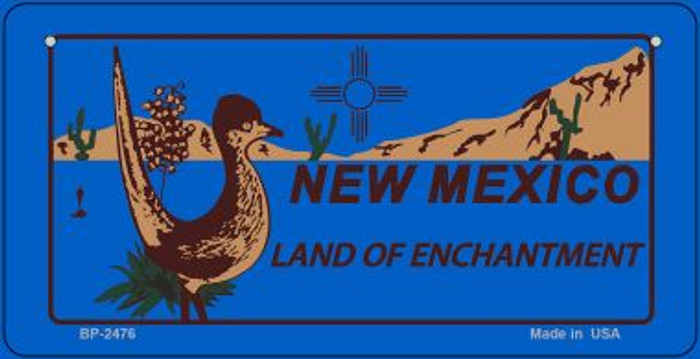 Roadrunner Blue New Mexico Novelty Metal Bicycle Plate BP-2476