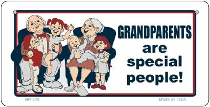 Grandparents Are Special Novelty Metal Bicycle Plate BP-275