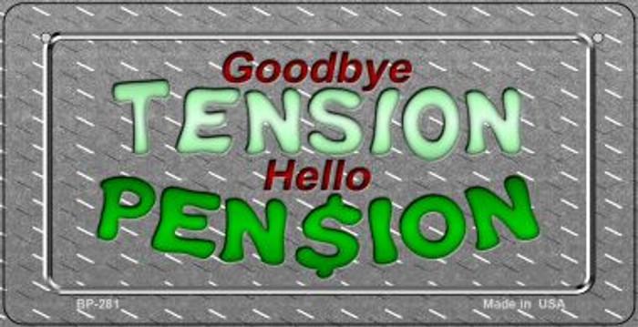 Tension Pension Novelty Metal Bicycle Plate BP-281