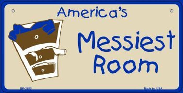 Americas Messiest Room Novelty Metal Bicycle Plate BP-2890