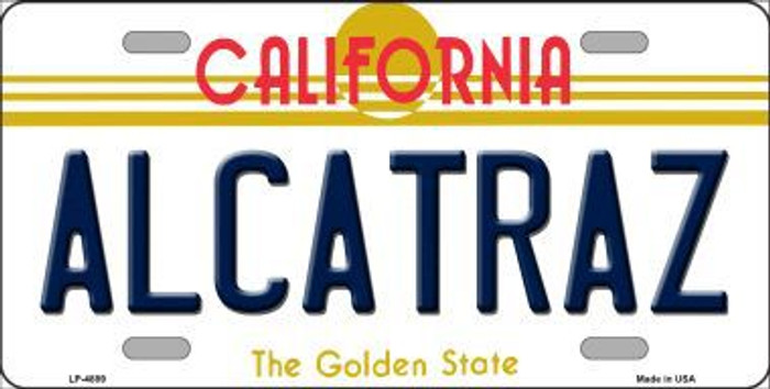 Alcatraz California Novelty Metal License Plate LP-4889