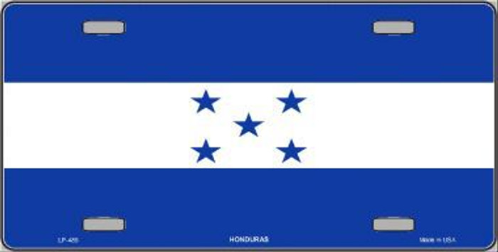 Honduras Flag Metal Novelty License Plate LP-489
