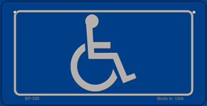 Handicap Logo Novelty Metal Bicycle Plate BP-339