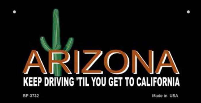 Arizona Keep Driving Novelty Metal Bicycle Plate BP-3732