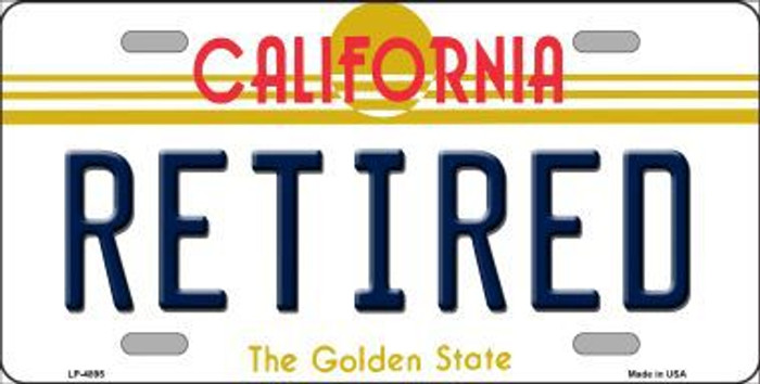 Retired California Novelty Metal License Plate LP-4895
