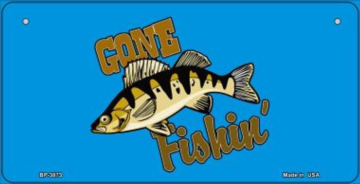 Gone Fishing Novelty Metal Bicycle Plate BP-3873
