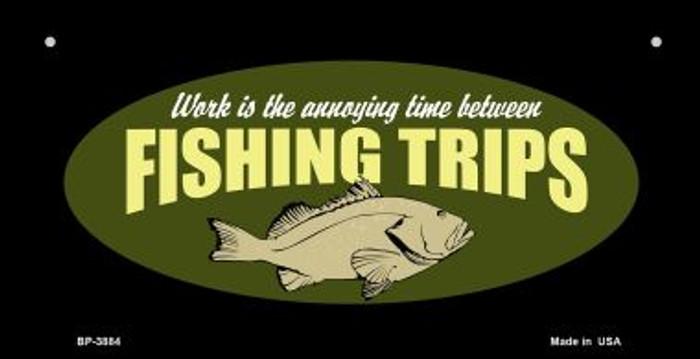 Fishing Trips Novelty Metal Bicycle Plate BP-3884