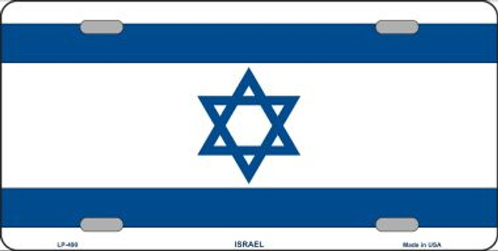 Israel Flag Metal Novelty License Plate