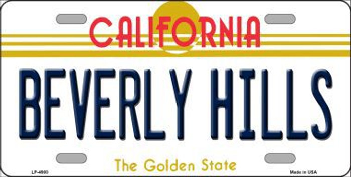 Beverly Hills California Novelty Metal License Plate LP-4900