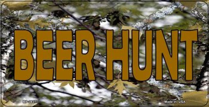 Beer Hunt Camouflage Novelty Metal Bicycle Plate BP-3937
