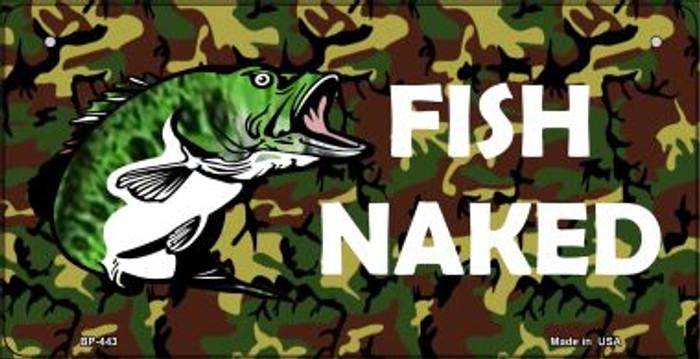 Fish Naked Novelty Metal Bicycle Plate BP-443
