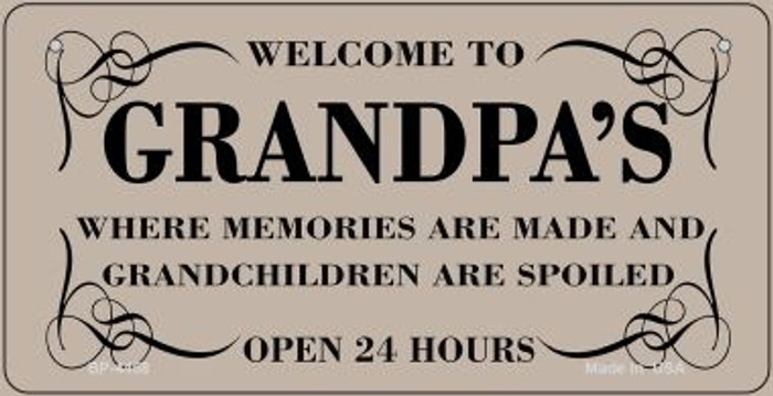 Welcome to Grandpas Novelty Metal Bicycle Plate BP-4458