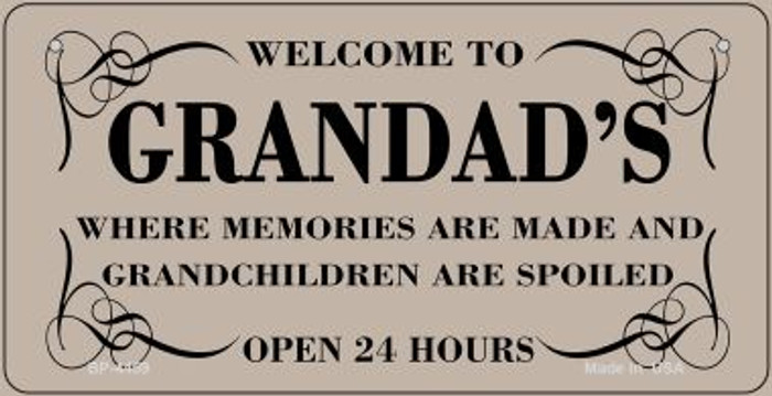 Welcome to Grandads Novelty Metal Bicycle Plate BP-4459