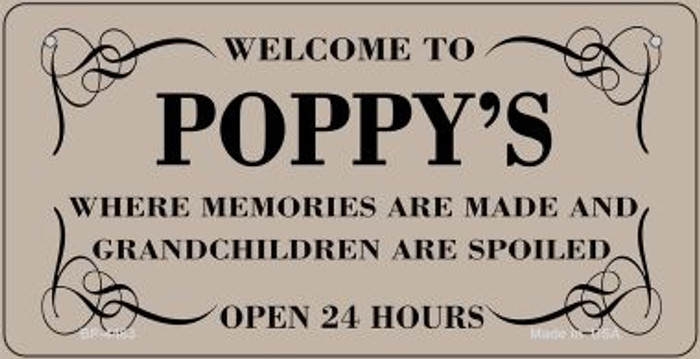 Welcome to Poppys Novelty Metal Bicycle Plate BP-4463