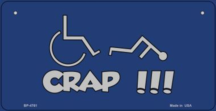Handicap Crap Logo Novelty Metal Bicycle Plate BP-4761
