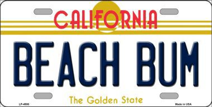 Beach Bum California Novelty Metal License Plate LP-4906