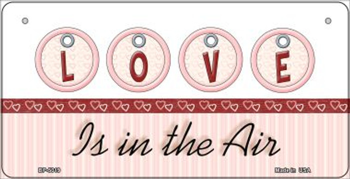 Love in the Air Novelty Metal Bicycle Plate BP-5019
