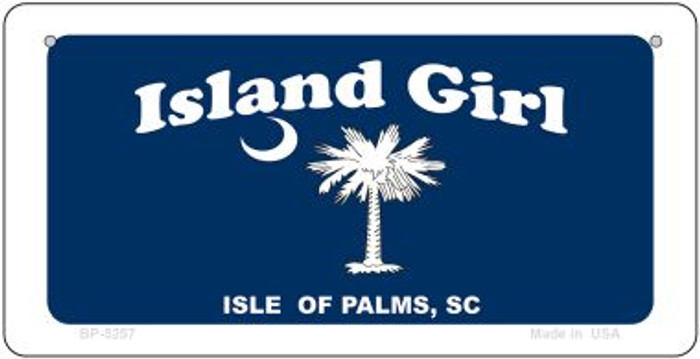 Island Girl Flag Novelty Metal Bicycle Plate BP-5257