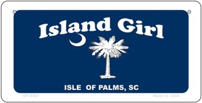 Island Girl Flag Novelty Metal Bicycle Plate BP-5257