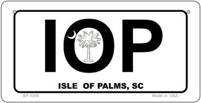 IOP White South Carolina Novelty Metal Bicycle Plate BP-5258