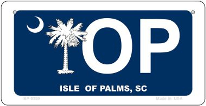 IOP Blue South Carolina Novelty Metal Bicycle Plate BP-5259