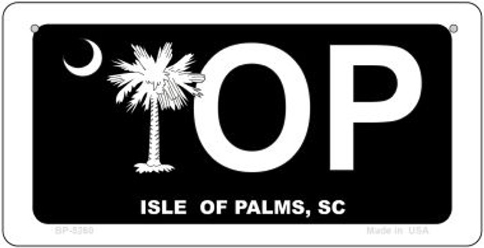 IOP Black South Carolina Novelty Metal Bicycle Plate BP-5260