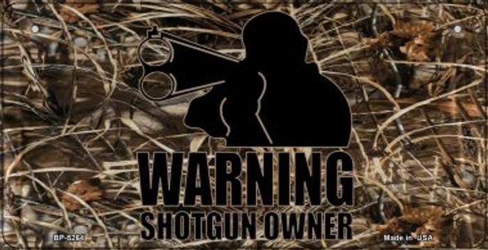Warning Shotgun Owner Novelty Metal Bicycle Plate BP-5264