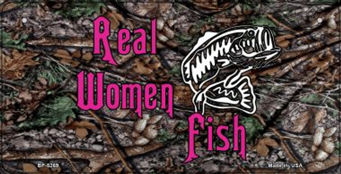 Real Women Fish Novelty Metal Bicycle Plate BP-5269