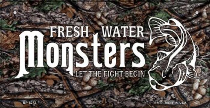 Fresh Water Monsters Novelty Metal Bicycle Plate BP-5273