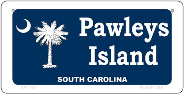 Pawleys Island Blue Novelty Metal Bicycle Plate BP-5333