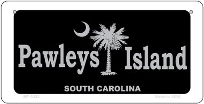 Pawleys Island Black Novelty Metal Bicycle Plate BP-5335