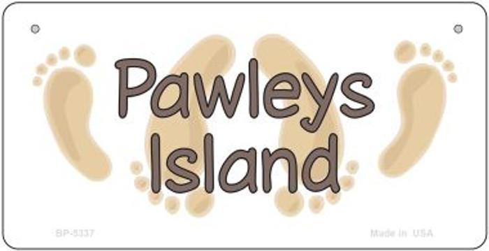 Pawleys Island Footprints Novelty Metal Bicycle Plate BP-5337