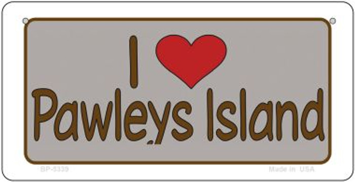 I Love Pawleys Island Novelty Metal Bicycle Plate BP-5339