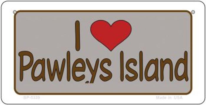 I Love Pawleys Island Novelty Metal Bicycle Plate BP-5339