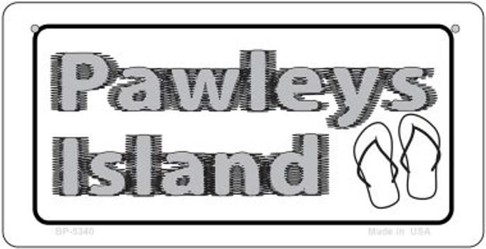 Pawleys Island Flip Flops Novelty Metal Bicycle Plate BP-5340
