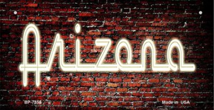 Arizona Neon Sign Novelty Metal Bicycle Plate BP-7855