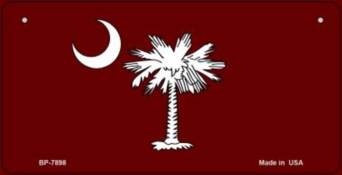 Burgandy South Carolina Flag Novelty Metal Bicycle Plate BP-7898