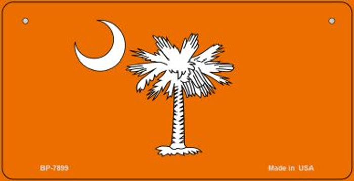 Orange South Carolina Flag Novelty Metal Bicycle Plate BP-7899