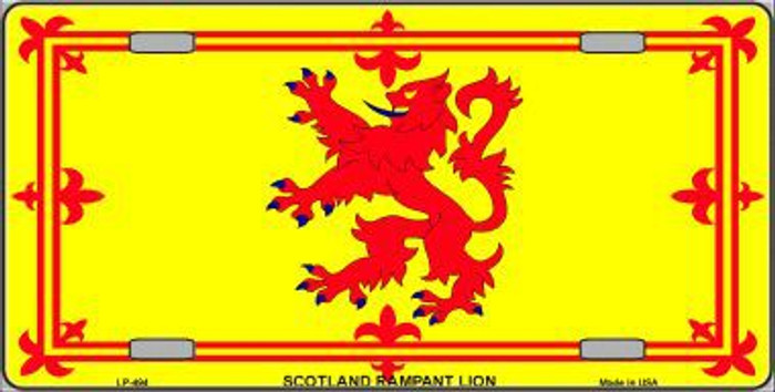 Scotland Lion Flag Metal Novelty License Plate LP-494