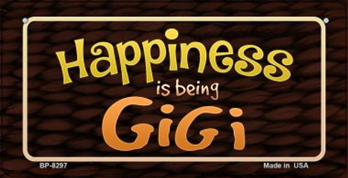 Happiness is Being Gigi Novelty Metal Bicycle Plate BP-8297