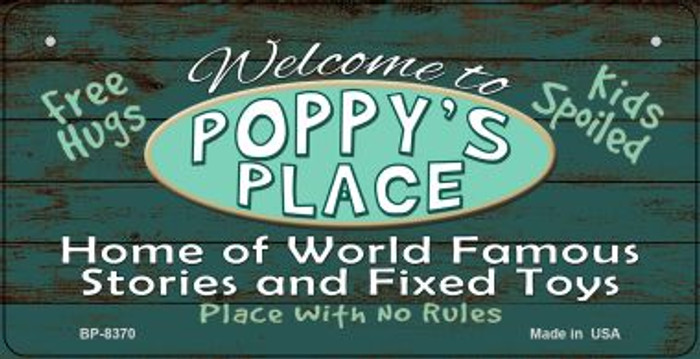 Welcome to Poppys Place Novelty Metal Bicycle Plate BP-8370