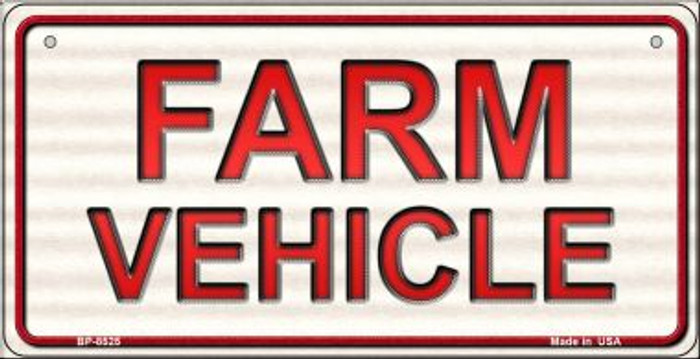 Farm Vehicle Novelty Metal Bicycle Plate BP-8525