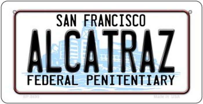 Alcatraz San Francisco Novelty Metal Bicycle Plate BP-8699
