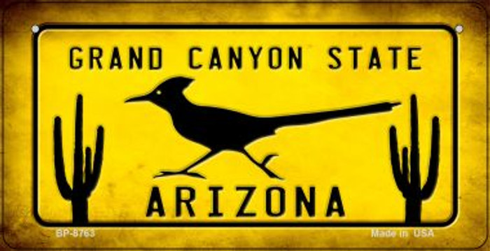Arizona Roadrunner Novelty Metal Bicycle Plate BP-8763