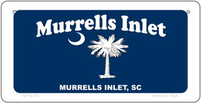 Murrells Inlet Blue Flag Novelty Metal Bicycle Plate BP-8793